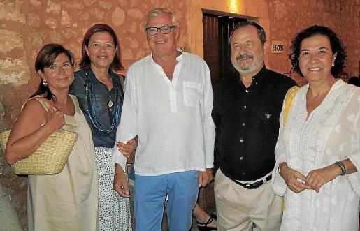 Amelia Forteza, Marilena Jover, José Luis Roses, Vicente Rotger y Ketty Isern.