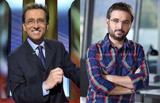 Los presentadores Jordi Hurtado y Jordi Évole.