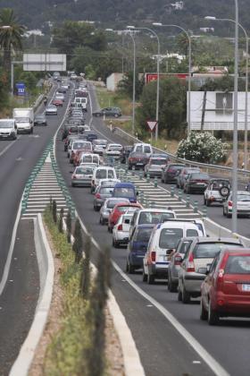 Imagen de archivo. Carretera de Santa Eulària.