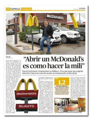 McDonalds imparte un curso a los franquiciados.