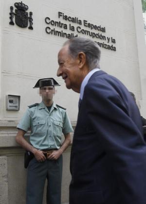 El presidente de la constructora OHL, Juan Miguel Villar Mir, ha llegado hoy a las 11.25 horas a las sede de la Fiscalía Anticorrupción en Madrid.