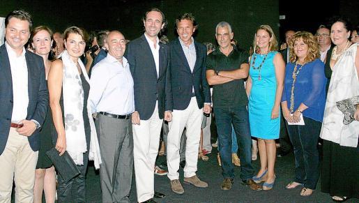 Jesús Valls, Aina Ferrando, Margalida Durán, Antonio Gómez, José Ramón Bauzá, Mateo Isern, Pep Girbent, María Salom, Joana María Camps y Pilar Ribal, en el Casal Solleric.