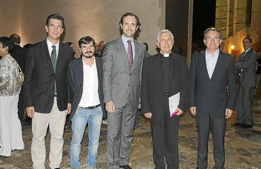 Fernando Gilet, Ramón Yzquierdo, José Ramón Bauzá, Joan Bauçà y Joan Rotger.