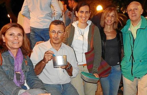 Antònia Amengual, Gonzalo Martínez, Beatriz Manzanal, Mari Carmen Alvendaño y Pep Escandell.