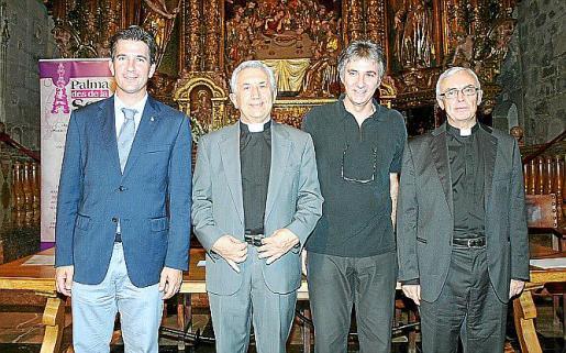 Fernando Gilet, Joan Bauzá, Jaume Gual y Teodoro Suau.