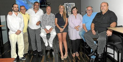 Xavi Canyelles, Juan Mut, Toni de la Mata, Onofre Prohens, Belén Luna, Águeda Gayá, Pepín Quereda y Jaume Robí.