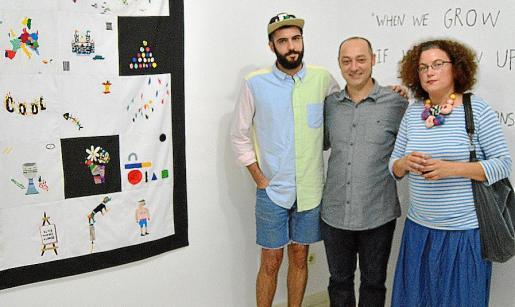 David Méndez Alonso, Tomeu Simonet y Mariana Sarraute.