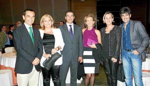 Joaquín García, Marga Morey, Gabriel Company, María José Barceló, Joana Bonet y Joan Monse.