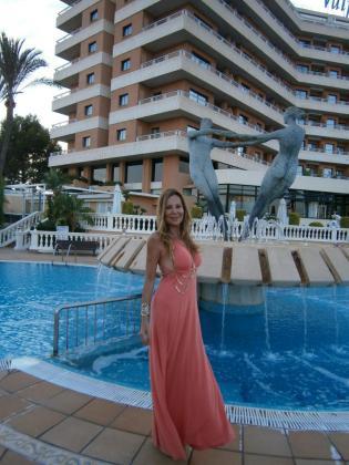 Ana Obregón en el Hotel Valparaiso.