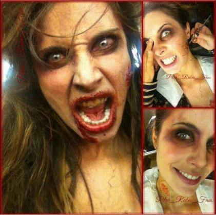Pilar Rubio, caracterizada para Halloween en su cuenta de Twitter.