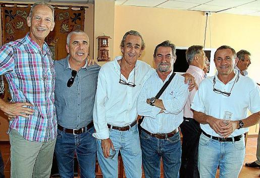Gabriel Rodríguez, Xavier Ramis, Miguel Ángel Montojo, Roberto Marín y Luis Montojo.