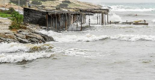 Imagen del temporal que azotó este fin de semana la costa deTalamanca.