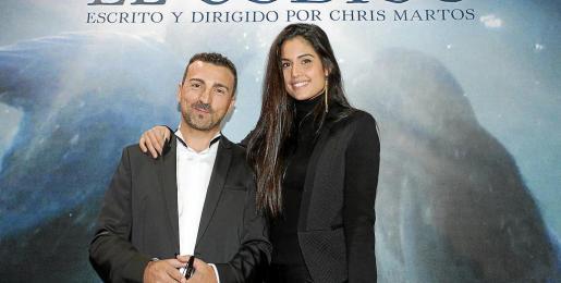 Patricia Yurena, junto a Chris Martos, ayer en el 'photocall'.