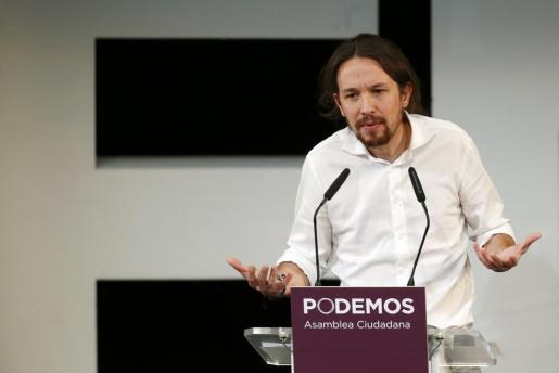 Pablo Iglesias durante un acto de Podemos.