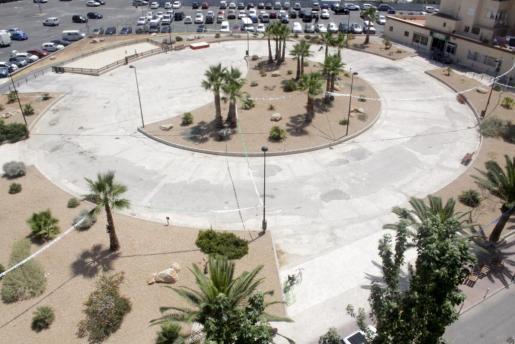 Foto de los jardines que llevarán el nombre de Bob Marley en la antigua plaza de Toros de Vila.