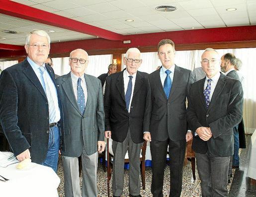 Joan Florit, Michi Montojo, Miguel Puig, Fernando Aznar Ladrón de Guevara y Joaquín Moreno.