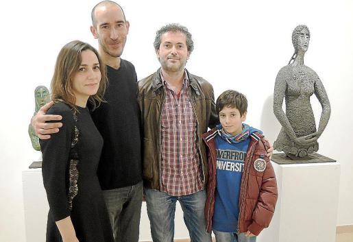 Regina Cortés, Antoni Miquel Morro, Toni Julià y Rafel Julià.