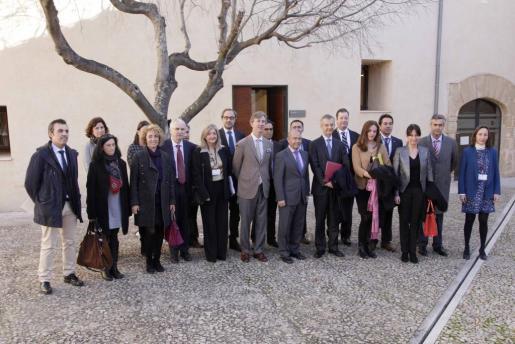 Representantes de las delegaciones del Govern y la Embajada de Francia que se han reunido esta mañana en el Parc Bit