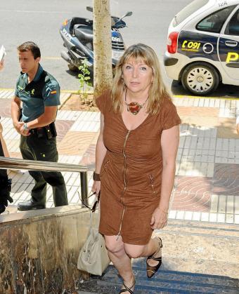 La exalcaldesa de Vila, Sánchez-Jáuregui, entrando a los juzgados el pasado mes de julio.