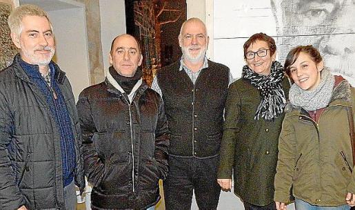 Jaume Mateu, Toni Bujosa, Andreu Miró, Francisca Magraner y Cati Tugores.