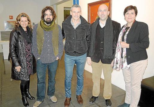 Margalida Lledó, Llorenç Garrit, Toni Serra, Joan Enric Capellà y Aina Aguiló.