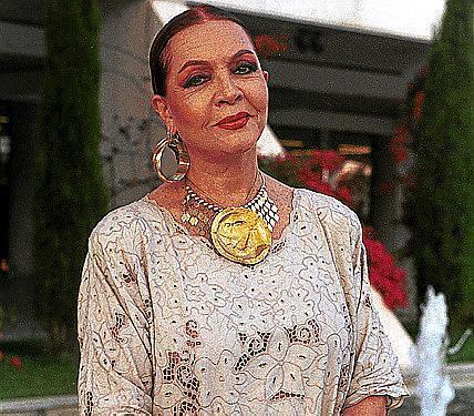 La actriz y cantante Sara Montiel.