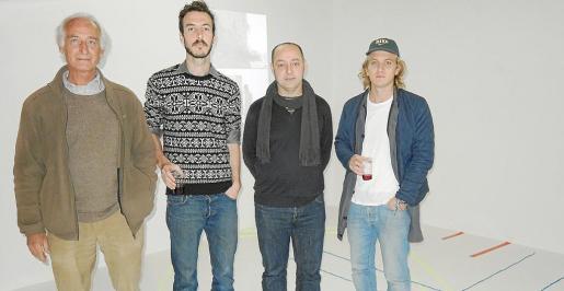 Antonio García, el artista francés Raphael Amine, el galerista Tomeu Simonet y Thomas Absolon.