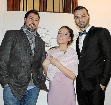 Jaime Verd, Eva Moreno y Javier Crespo.