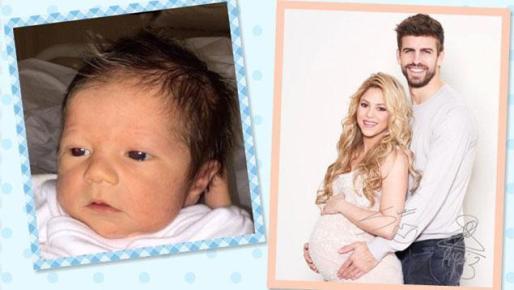 Shakira y Gerard Piqué presentan han presentado a su hijo Sasha a través de la web benéfica WorldBabyShower.org.