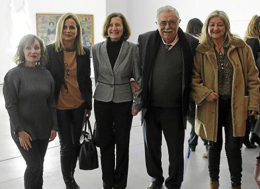 Nekane Aramburu, Gary Duràn, Catalina Sureda, Pere A. Serra y Bel Cerdà.