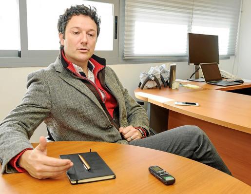 Juan José Calvo, director de Operaciones y Producto de Palladium Hotel Group, minutos antes de la entrevista.