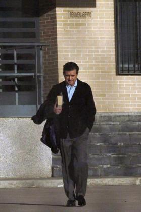 Jaume Matas, en el momento de abandonar el centro penitenciario de Segovia, en una imagen de archivo.