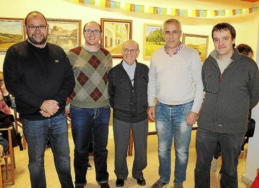 Bep Al·lès, Miquel Mariano, Joan Coll, Toni Juaneda y Pep Pelfort