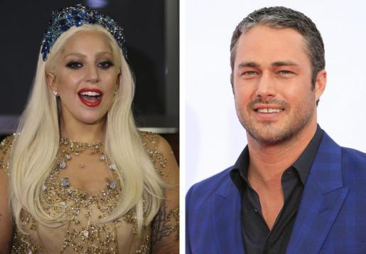 Combo de dos fotografías de archivo que muestran a Lady Gaga y al actor estadounidense Taylor Kinney.
