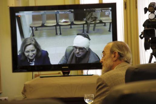 Jaume Matas ante la comisión de Son Espases.
