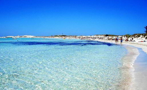 La playa de Ses Illetes en una imagen de archivo.
