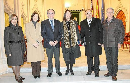 Pilar Ferrer, Catalina Sureda, Joan Rotger, Cristina Ros, Josep Prohens y Bernat Reus.