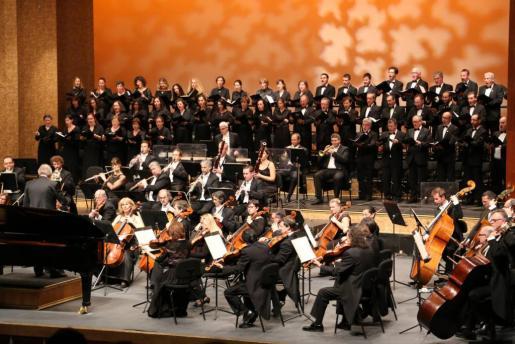 Imagen de un concierto de la orquesta sinfónica de Balears.