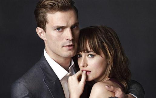 """Jamie Dornan y Dakota Johnson, protagonistas de la película """"50 sombras de Grey""""."""
