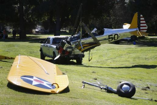 El avión siniestrado que pilotaba el actor Harrison Ford.