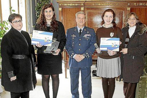Margalida Santandreu, Carolina Orts, Manuel Fernández-Roca, Elionor Payeras y Lina Rosselló.