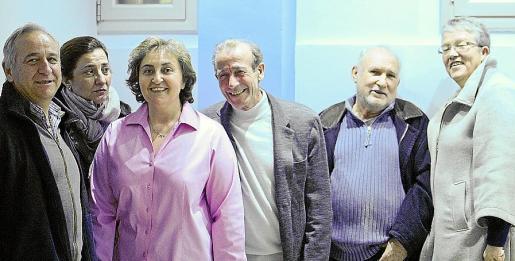 Francisco Balaguer, Cati Vidal, Neus Bestard, Jaime Andújar, Sebastià Manresa y Ángela Colomar.