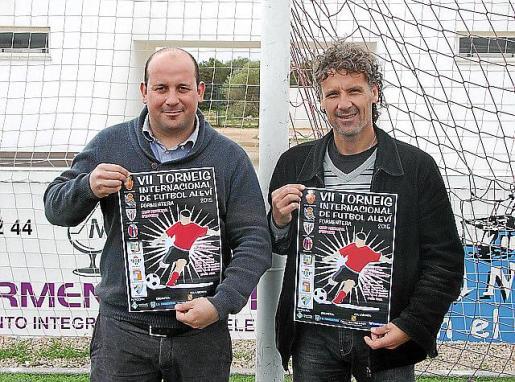 Sergio Jiménez y Luis Elcacho, ayer en Formentera.