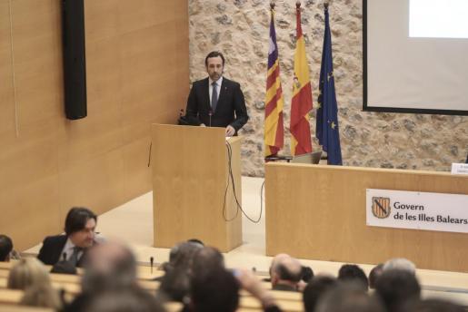 El president José Ramón Bauzá durante la presentación de la Fundación Impulsa Balears.