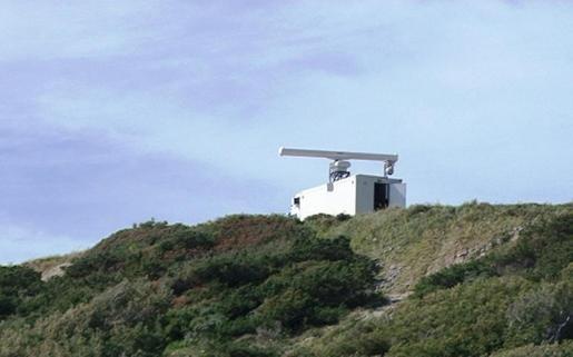 Imagen del radar móvil del SIVE tomada ayer en la zona de Talamanca.