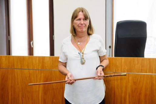 Virginia Marí Rennesson, el día que tomó posesión como alcaldesa, en agosto del 2014.