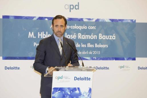 José Ramón Bauzá, durante el discurso en el que ha anunciado una reforma fiscal en caso de ser reelegido.