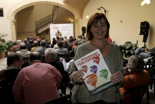 Francina Armengol durante la presentación del programa del PSIB.