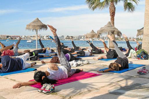 Esta convención se inició ayer y ofrecerá masterclasses en Talamanca y seminarios especializados en Pilates & Co (Eivissa) hasta mañana domingo. Foto: TONI ESCOBAR