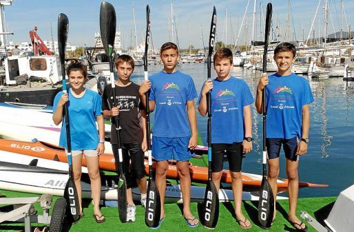Imagen de grupo de los infantiles del CNSA que pondrán a prueba su nivel en Asturias.